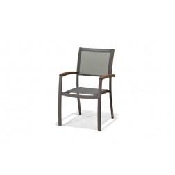 Sillon Aluminio/Textilene Gris Qfplus Italica