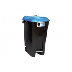 Contenedor Negro con Pedal Tayg 120 L-Tapa Azul