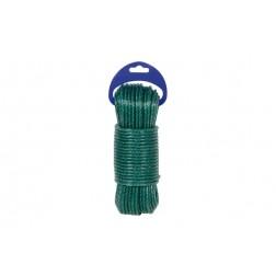 Cuerda para tender plastificada verde 25m