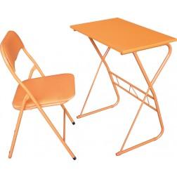 Mesa y silla escolar naranja