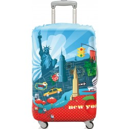 Funda para maleta decorada 58x65 New York