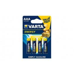 Pila Alcalina Energy Varta LR03 AAA BL.4