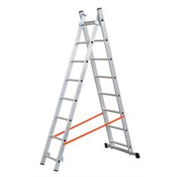 Escalera Aluminio Profesional Doble Combinada 2X10 Peld