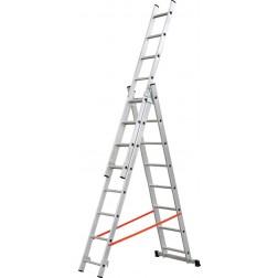 Escalera Aluminio Profesional Triple Combinada Kylate 3X9 Peld