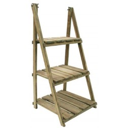 Estantería plegable de madera 3 baldas