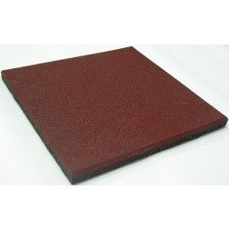 Loseta caucho granulado 50x50x2cm Rojo