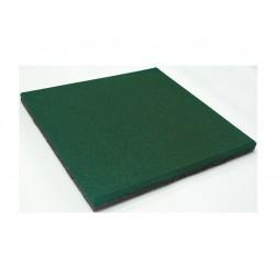 Loseta caucho granulado 50x50x2cm. verde