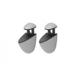 Clip portaestante basic maxi (2 un) plata mate