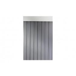 Cortina de Puerta Cinta Duero-Negro/Transparente 90x210 cm