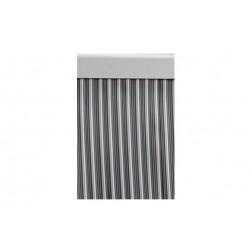 Cortina de Puerta Cinta Ebro-Gris/Blanco Cordecor 90x210 cm