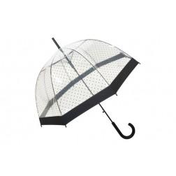 Paraguas transparente de seテアora