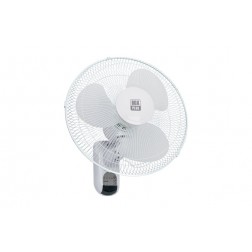 Ventilador Pared Diam. 40cm 45W con Mando Box Plus Blanco, Aspas Transparentes