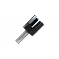 Fresa pernio metal duro  12 mm mango 6 mm 2z