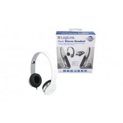 Auriculares con microfono blanco