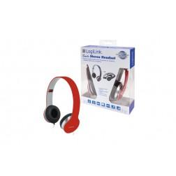 Auriculares con microfono rojo