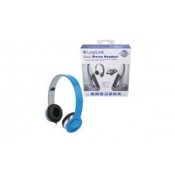 Auriculares con microfono azul