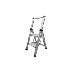 Escalera Aluminio Domestica Peldaño Super Ancho Homelux 2 Peldaños