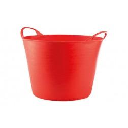 Capazo Plastico Flexible Muliusos 26l  Rojo