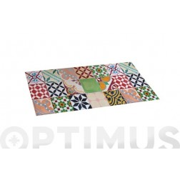 Alfombra vinílica Croma 50X110cm mosaico Color