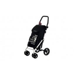 Carro de compra 4 ruedas giratorias Carlett negro