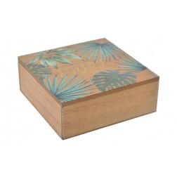 Caja de madera tropical 18x18x7cm