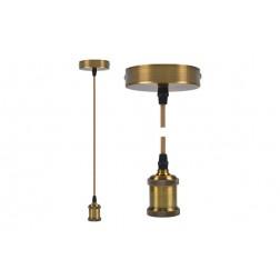 Lampara Colgante Diam. 9,84x4,4 cm + 88cm de Cable Edm Oro Viejo E27 60W