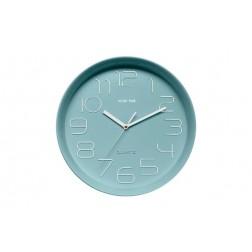 Reloj de pared Kook Time Retro Redondo Verde