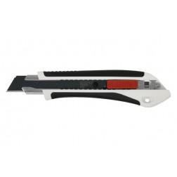 Cutter Bimaterial Premium Autolock 18mm Sk2 Medid Premium Cuchilla Negra de Alta Cálidad Skh2
