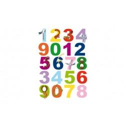 Adhesivo Estatico Numeros Infantil