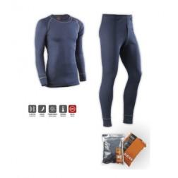 Camiseta y Pantalon Termico Poliester Juba T Xl Marino