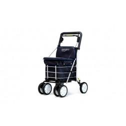 Carro compra 4 ruedas y asiento con respaldo MARINO Carlett