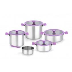 Batería de cocina Bra Color Steel lila
