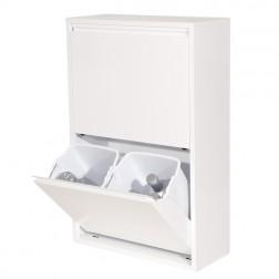 Contenedor de reciclaje 4 departamentos Duett blanco