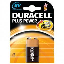 Pila Alcalina Plus Power Duracell 6F22-9V-Bl.1