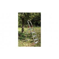 Escalera Aluminio Peldaño Ancho Garden&Home Hailo 4 Peldaños