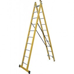 Escalera Fibra Vidrio Doble Combinada 9 Peld