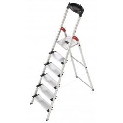 Escalera de aluminio Hailo  L80 ComfortLine 6 peldaños