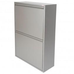 Contenedor de reciclaje 4 departamentos Duett gris