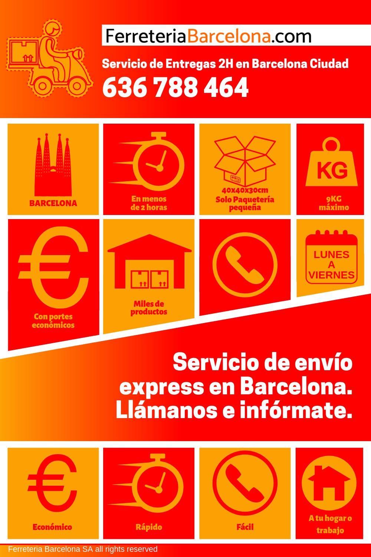 Instrucciones para envíos urgentes Ferreteria Barcelona
